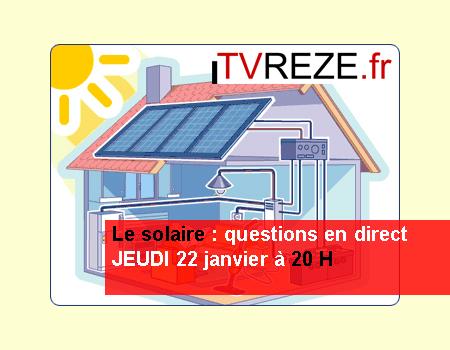 Le solaire en direct