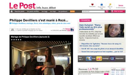 TVREZE en une du Post.fr