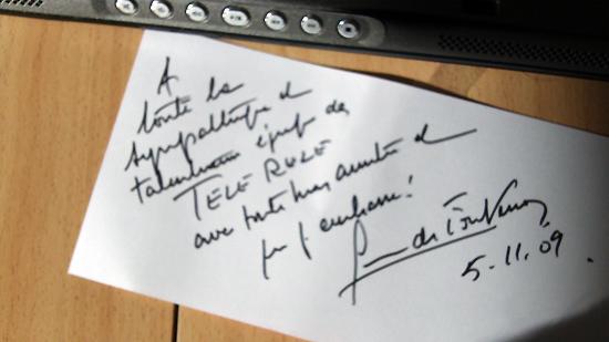 Geneviève de Fontenay soutient TVREZE