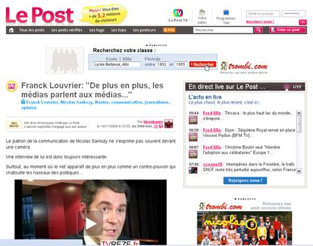 Franck Louvrier, le conseiller communication de Sarkozy sur TVREZE