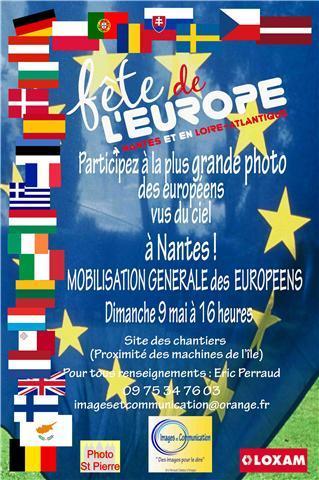 Dans le cadre de la fête de l'EUROPE, le 9 mai prochain
