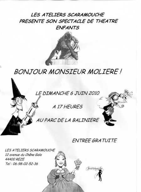 """Spectacle de théâtre enfants """"Bonjour Monsieur Molière!"""""""
