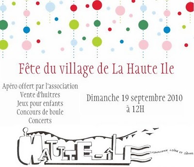 Fête de village à Haute-ile