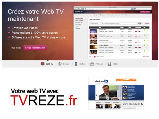 Créez votre WebTV avec TVREZE