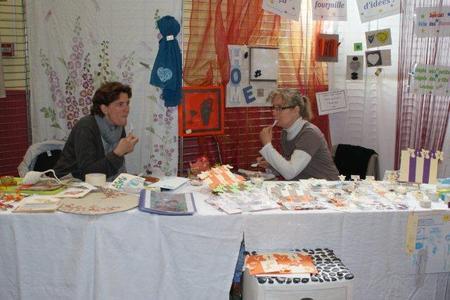 Dominique et Sandrine, marché des Roquios - Fêtes des Mères 2010