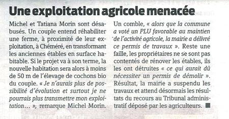 Article paru dans Presse Océan du 10 février 2010