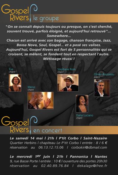 Concert des Gospel Rivers, ce soir 1 juin au Pannonica