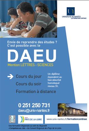 DAEU et DUEF : 2 diplômes de promotion sociale en formation Continue à l'Université de Nantes
