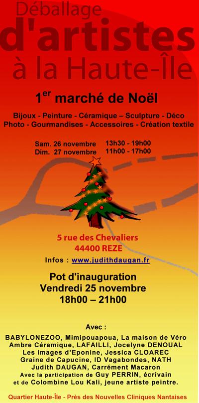 1er marché de Noël à la Haute-Ile à Rezé