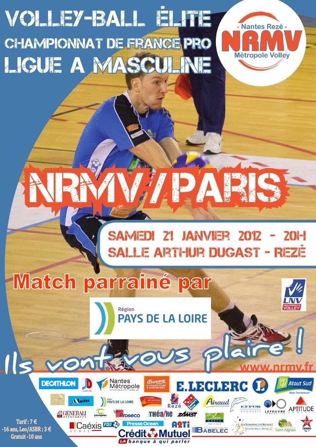 Le NRMV reçoit l'équipe du Paris VOLLEY