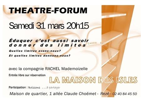 Soirée théâtre Forum avec les CSC de Rezé et la compagnie Rachel Mademoizelle
