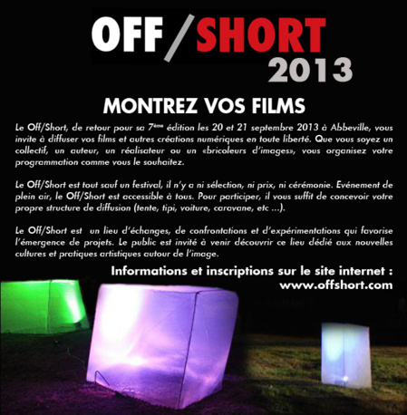 Festival Off/Short 2013 - Appel à films