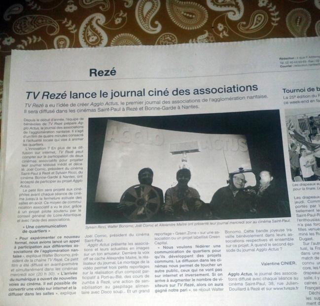 En avant-première : le journal ciné des associations de l'agglo