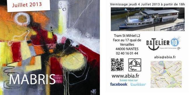 Bâbord et tribord pour MABRIS en juillet !
