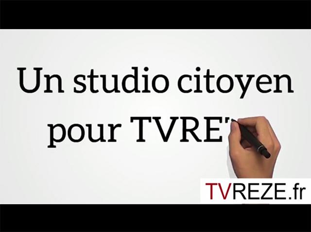 Soutenez le projet de Studio TV citoyen de TVREZE
