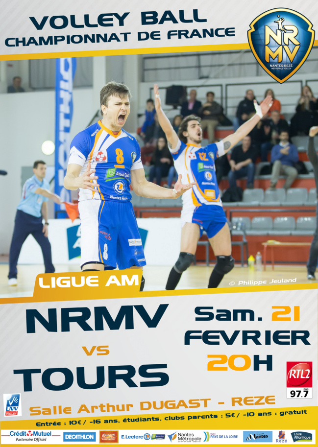 Volley-ball : Nantes Rezé Métropole Volley vs Tours