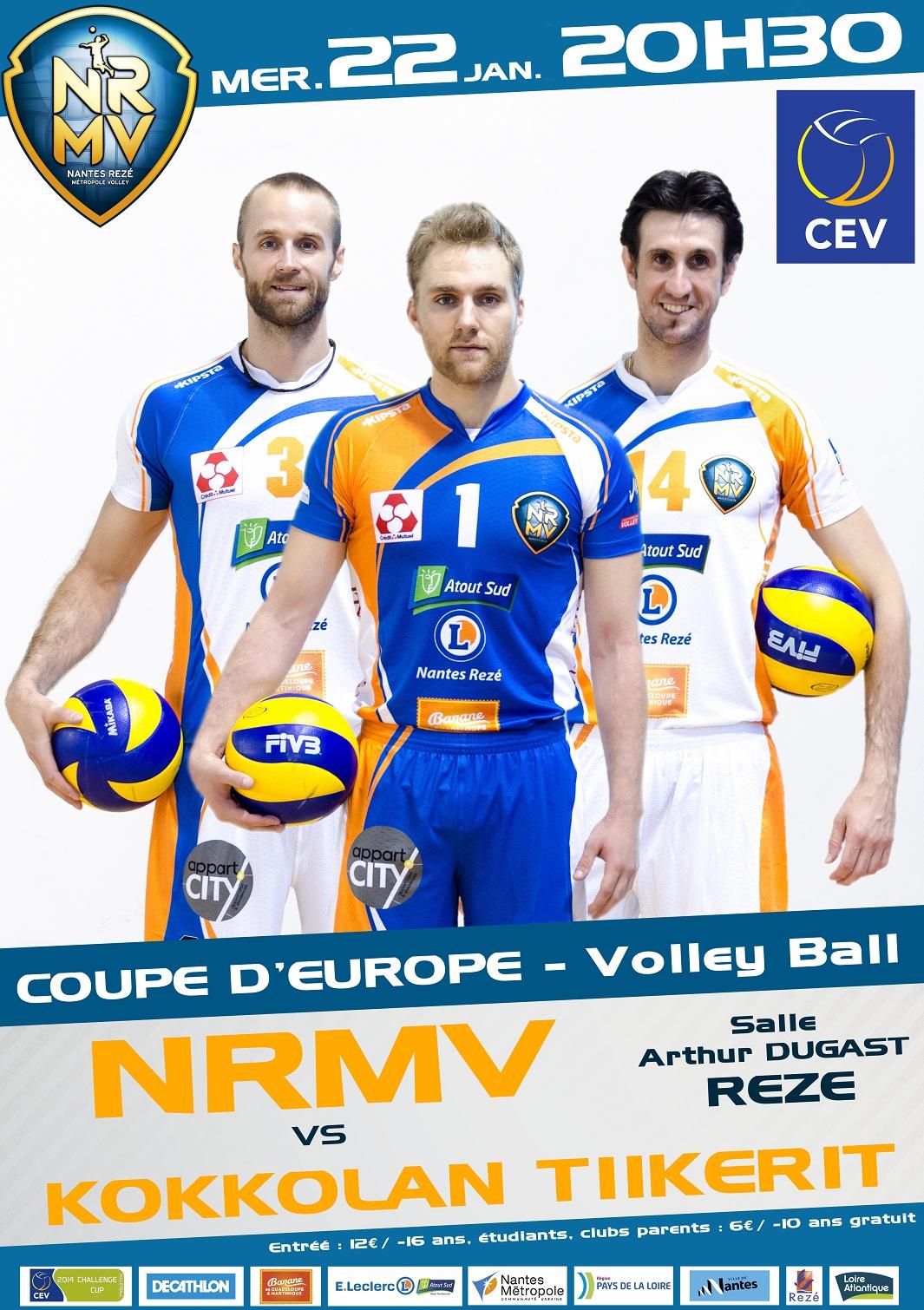 NRMV : 1/8 finale de Coupe d'Europe de Volley