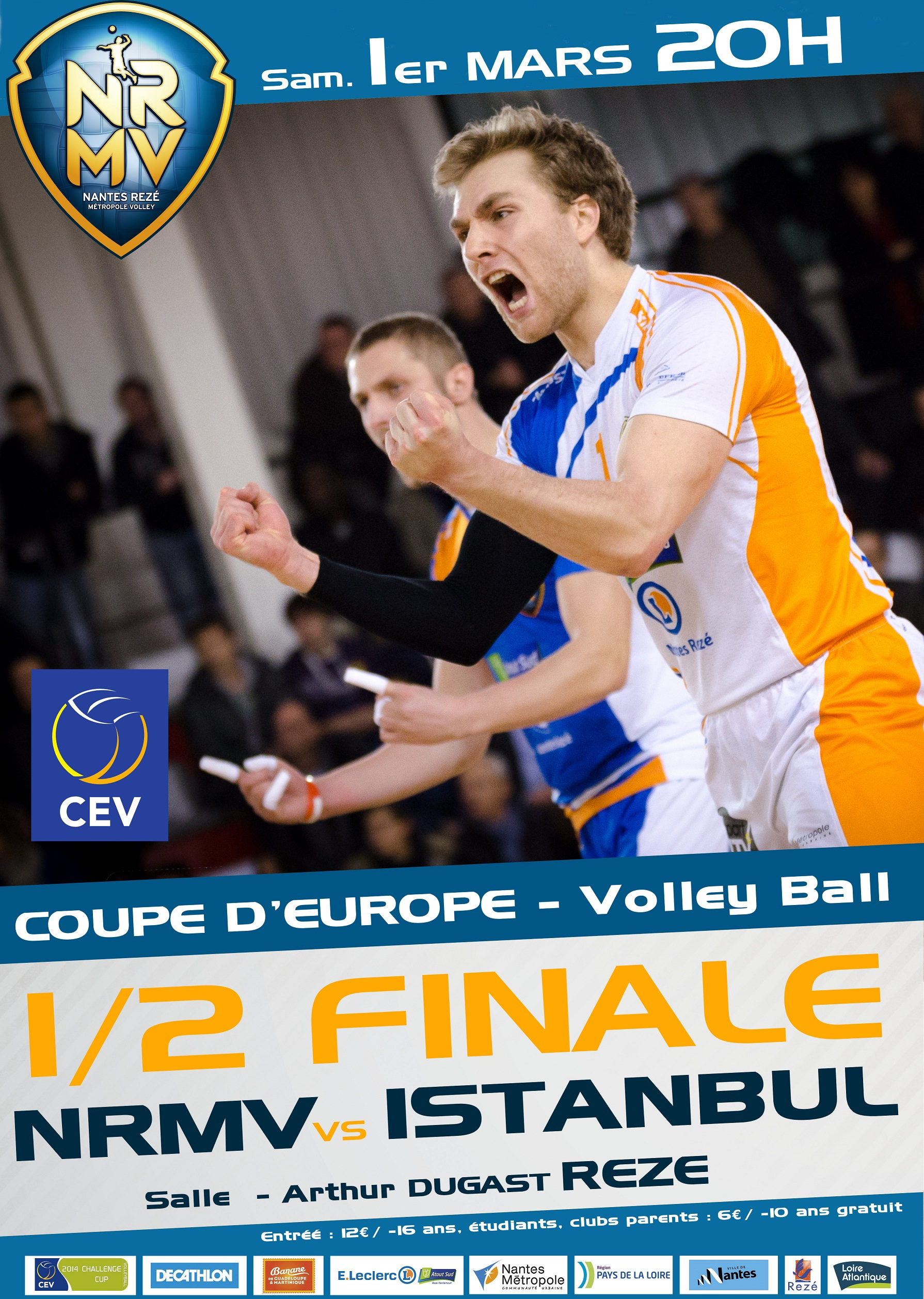 NRMV : vers la finale de la coupe d'Europe de Volley ?