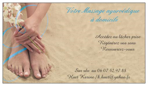 Karine HUET : le massage à domicile
