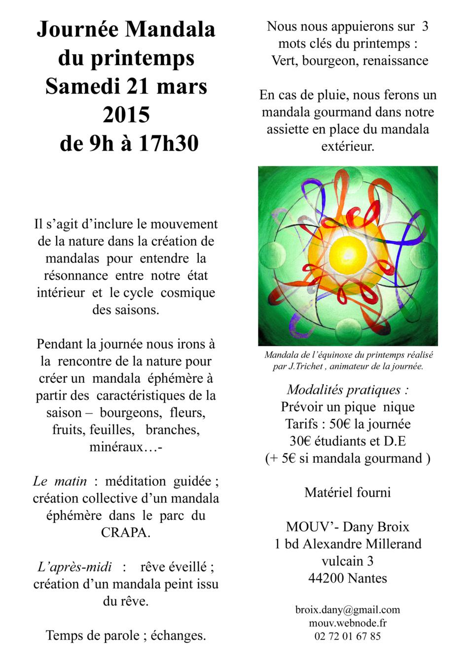 Journée Mandala du Printemps 2015