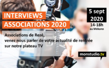 Les associations de Rezé s'expriment en direct sur monstudio.tv
