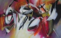 MABRIS, Artiste peintre nantaise, au Palais des Nations à Genève